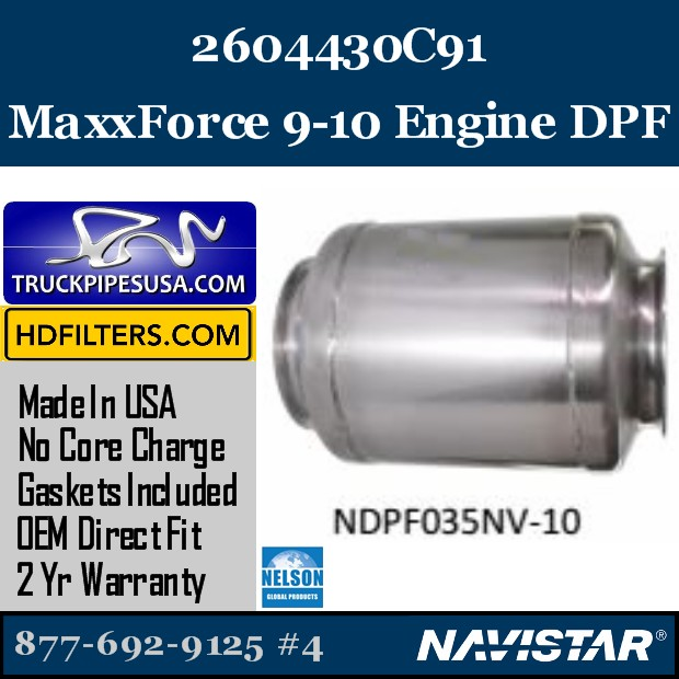 2611630C91 Navistar MaxxForce 9 Engine DPF