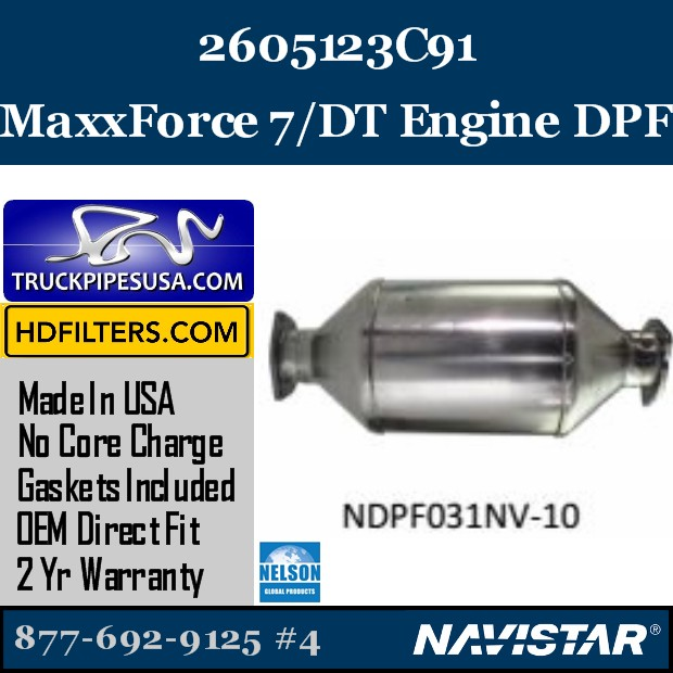 2604873C91 Navistar MaxxForce 7-DT Engine DPF