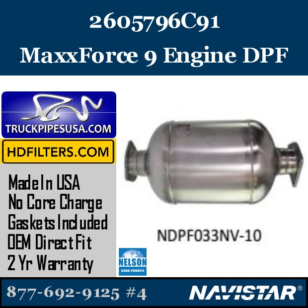 2605123C91 Navistar MaxxForce 7-DT Engine DPF