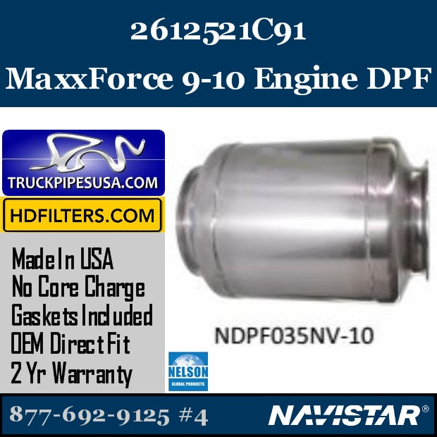 2594356C91 Navistar MaxxForce 7-DT Engine DPF