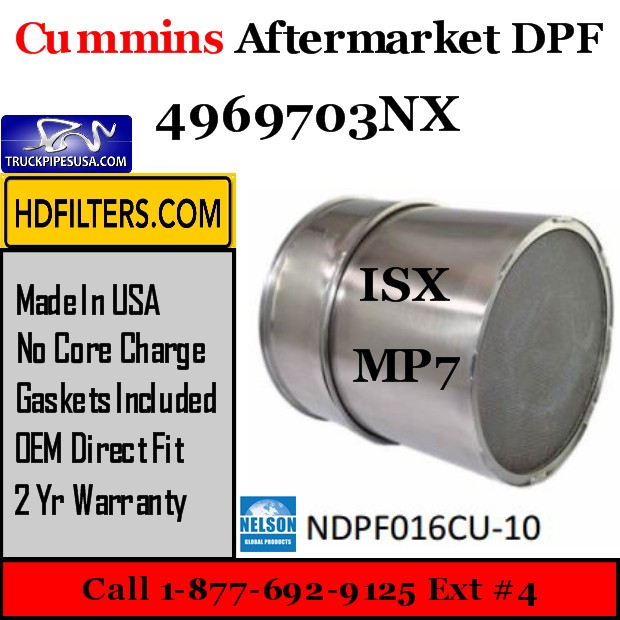 4969703NX Cummins-Volvo-Mack ISX/MP7 Engine Diesel Particulate Filter DPF