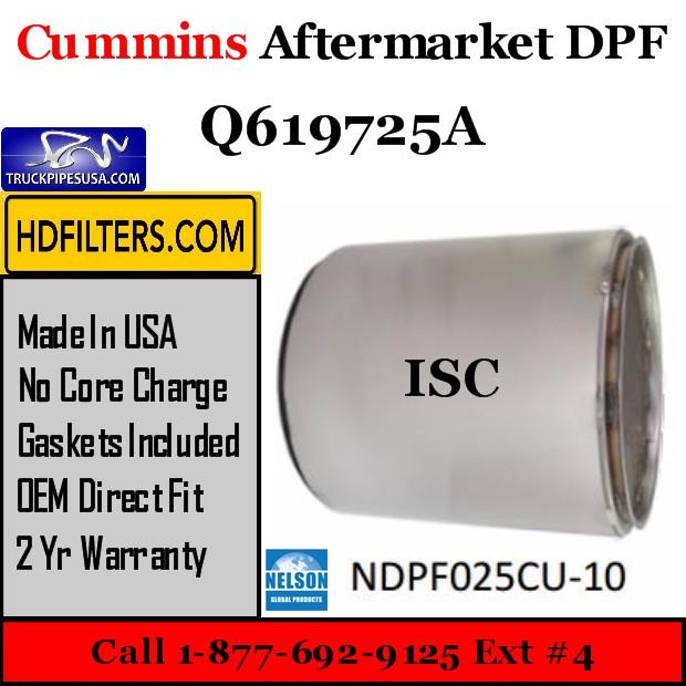 Q619725A Cummins ISC Engine Diesel Particulate Filter DPF