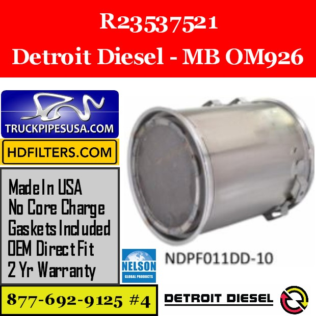 R23537521 Detroit Diesel MB OM926 Engine DPF