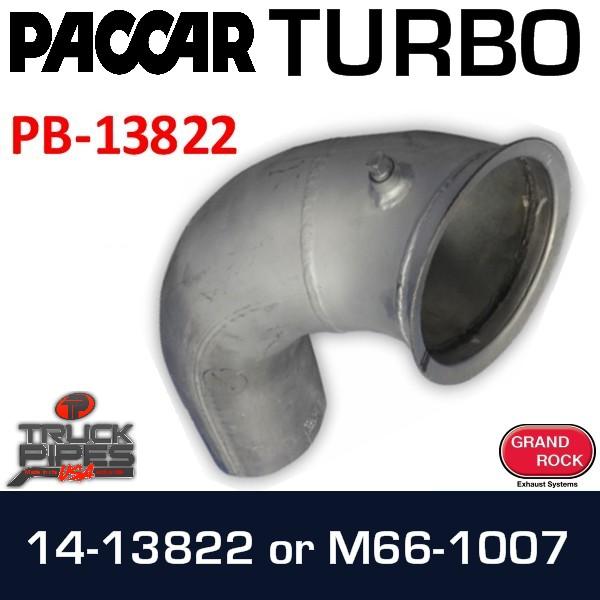 "M66-1007 or 14-13822 Peterbilt Exhaust 5"" OD Turbo PB-13822"
