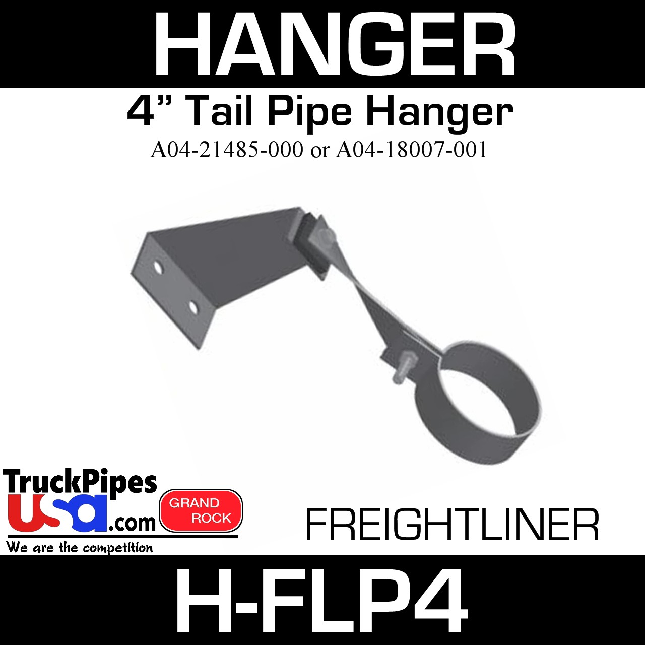 "4"" Tail Pipe Hanger A04-21485-000 or A04-18007-001 Freightliner H-FLP4"