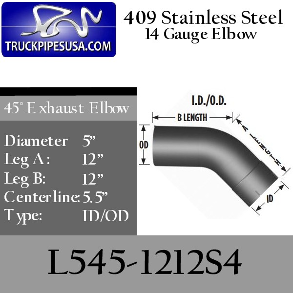 l545-1212s4-45-degree-409-stainless-steel-exhaust-elbow-5-inch-round-tube-12-inch-legs-id-od-tubing-for-big-rig-trucks.jpg