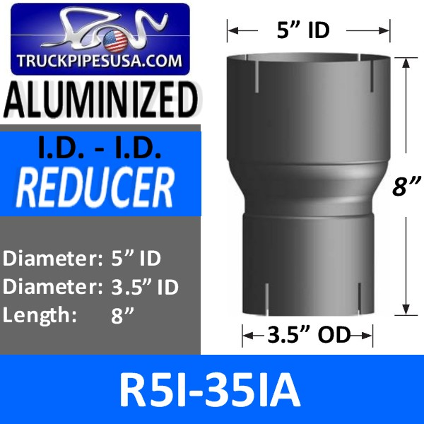 r5i-35ia-exhaust-reducer-id-to-id-aluminized-exhaust-5-inch-id-to-3-5-inch-id-8-inches-long.jpg