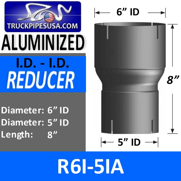 r6i-5ia-exhaust-reducer-id-to-id-aluminized-exhaust-6-inch-id-to-5-inch-id-8-inches-long.jpg