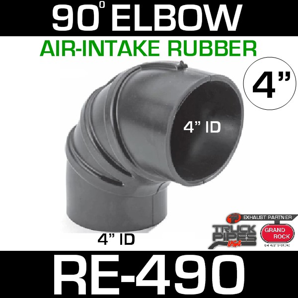"4"" Air Intake Rubber 90 Degree Elbow RE-490"