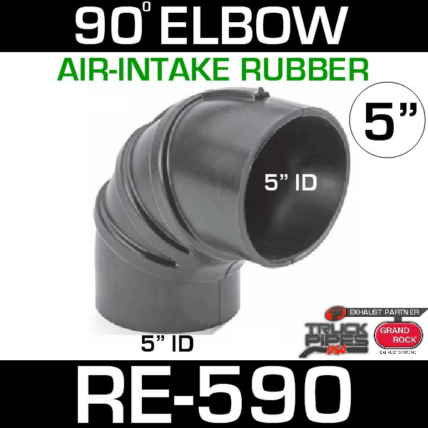 "5"" Air Intake Rubber 90 Degree Elbow RE-590"