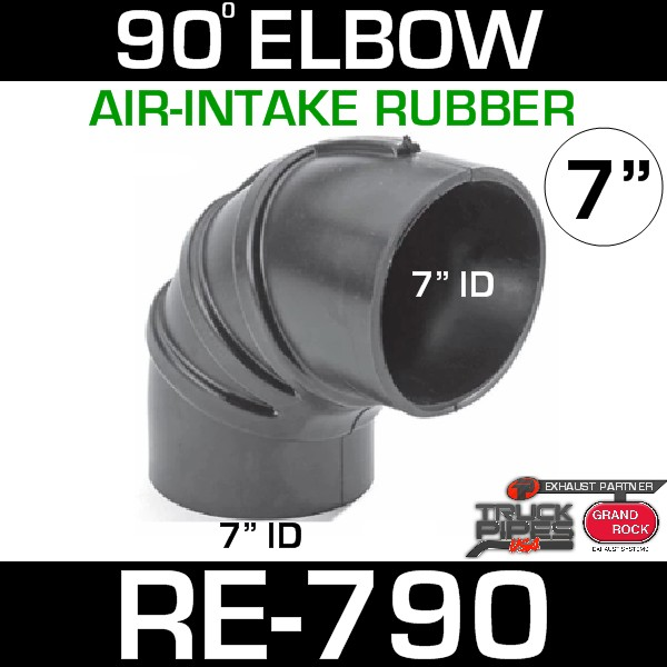 """7"""" Air Intake Rubber 90 Degree Elbow RE-790"""