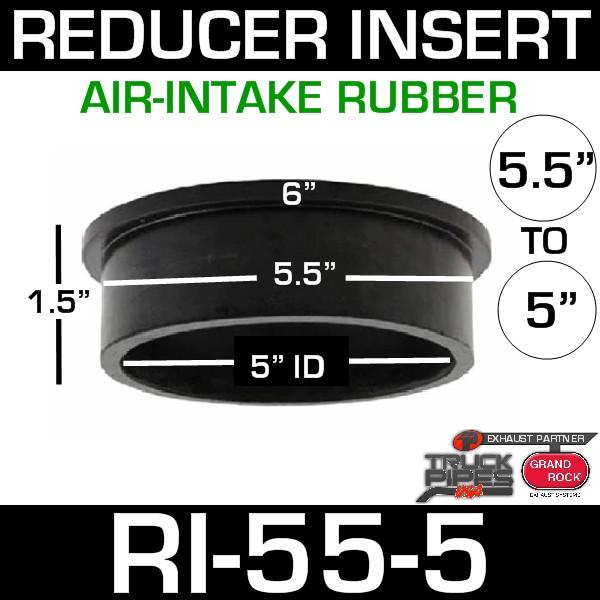 "5.5"" x 5"" Air-Intake Rubber Exhaust Reducer Insert RI-55-5"