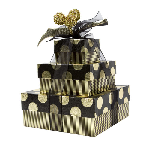 Gold Dot 3 Tier Tower