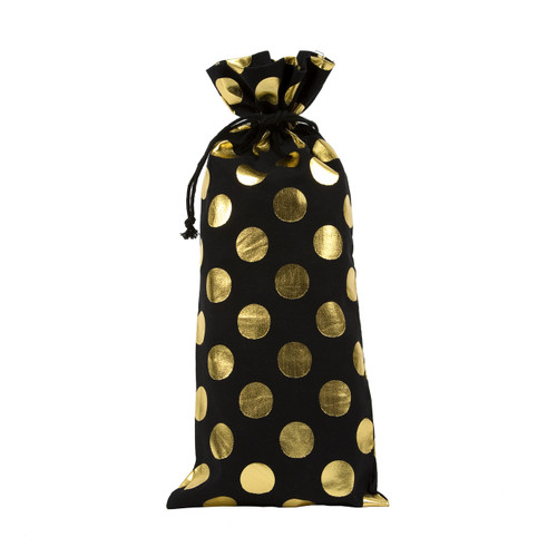 Gold Dot Drawstring Bag