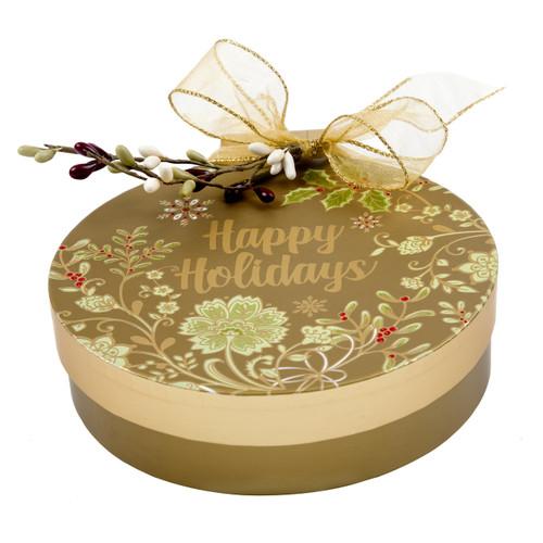 Happy Holidays Ornament Shaped Box