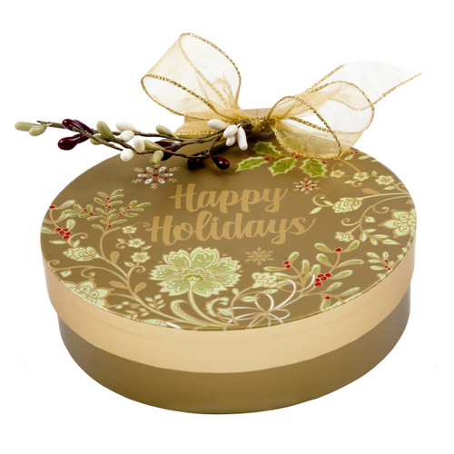 Happy Holidays Ornament Shaped Box