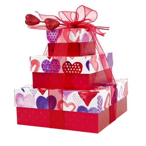 Heart To Heart Valentine's Day 3 Tier Tower – Set of 3 Boxes Case Pk. 8