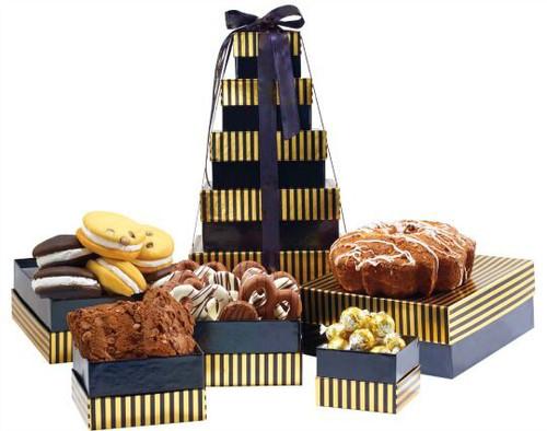 Elegant Stripes with Fresh Baked Products & Chocolates