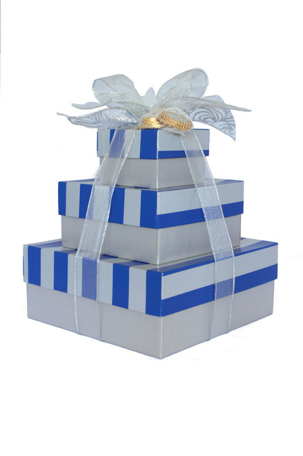 Happy Hanukkah 3 Tier Tower – Set of 3 Boxes - Case Pk. 8