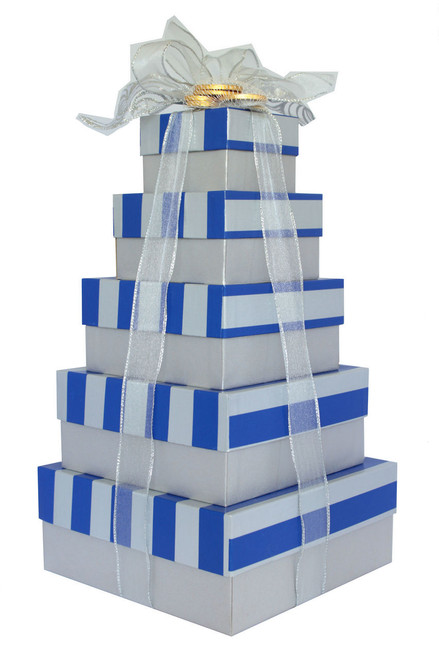 Happy Hanukkah  5 Tier Tower – Set of 5 Boxes - Case Pk. 8