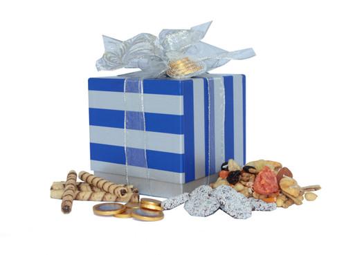Happy Hanukkah Gift Box with Kosher Treats