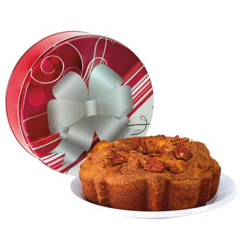 Cinnamon Pecan Coffee Cake in All Occasion Tin