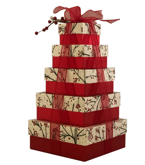 Glisteing Branches 5 Tier Tower - Set of 5 Boxes - Case Pk. 8