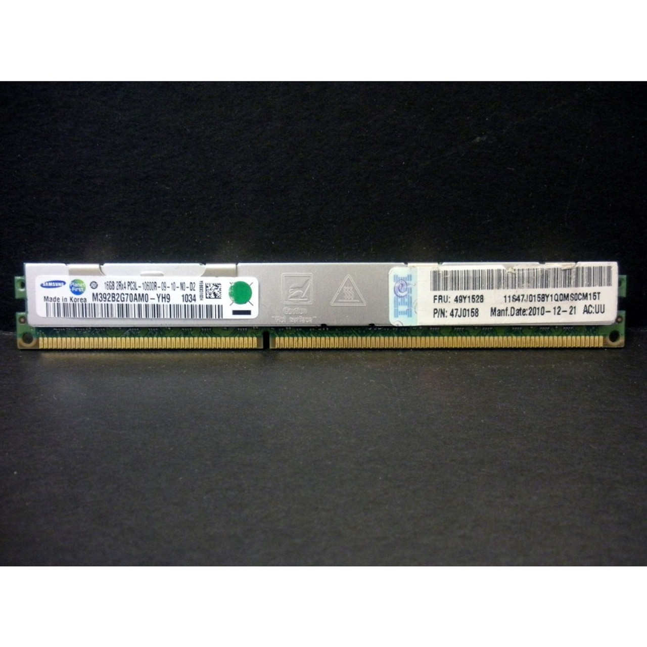 46C0599 IBM 16GB 2RX4 PC3L-10600R VLP MEMORY MODULE 1X16GB