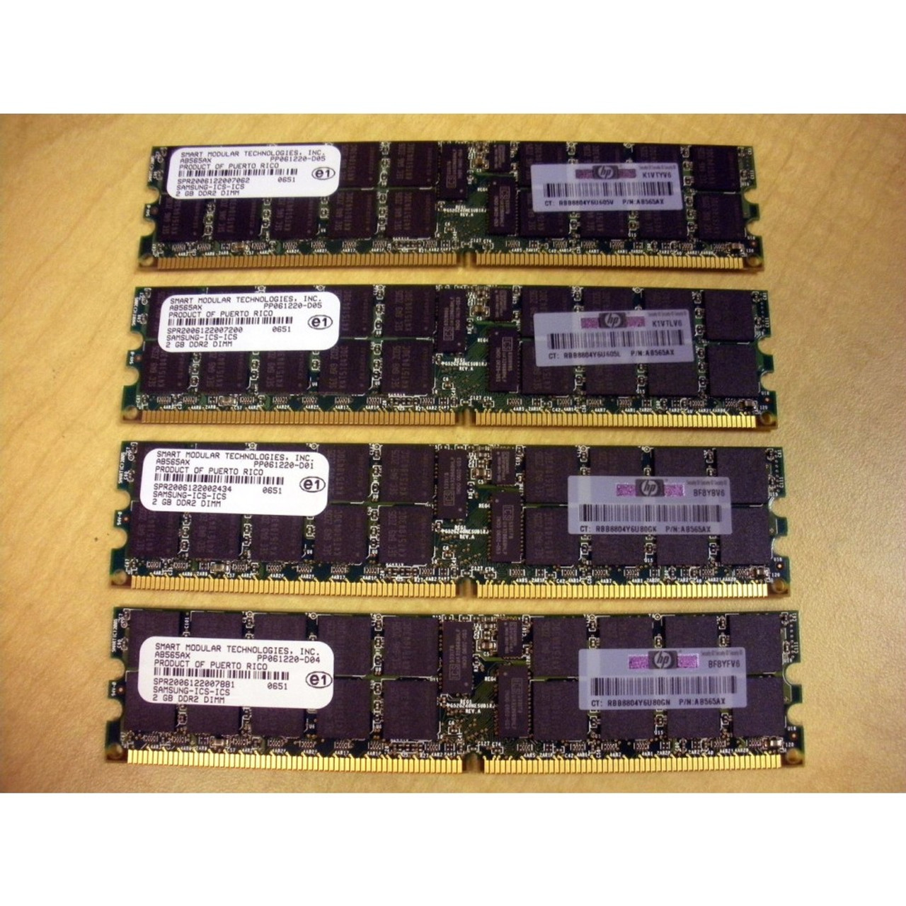 4x2GB Memory PC2-5300 ECC UNBUFFERED RAM IBM System-X 3105 Express 8GB