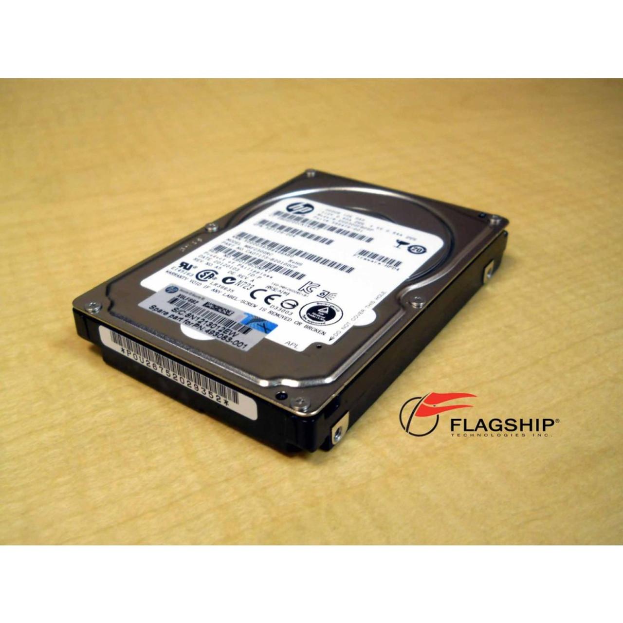 HP 300GB 10K 6G 2.5 SAS DUAL PORT HARD DRIVE 507127-B21 507129-004