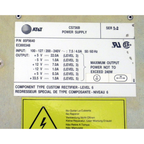 IBM 85F9640 9402-X02 POWER SUPPLY 9402-F via Flagship Tech
