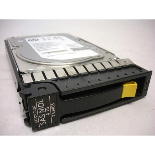 """HP 743405-001 H6Z69A 4TB 7.2K 6G SAS LFF 3.5"""" DP MDL Hard Drive"""