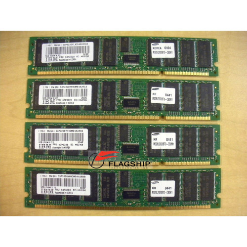 IBM 4490-701X 4GB (4x 1GB) Memory Kit 12R8616 53P3228