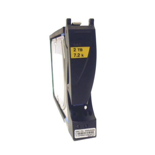 EMC 005049496 Hard Drive 2TB 7.2K SAS 3.5in