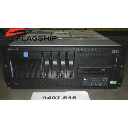IBM 9407-515 4901 Power5+ 1.9GHz, 4GB, 4x 70GB, 3800 CPW, OS 5.4, Rackmount