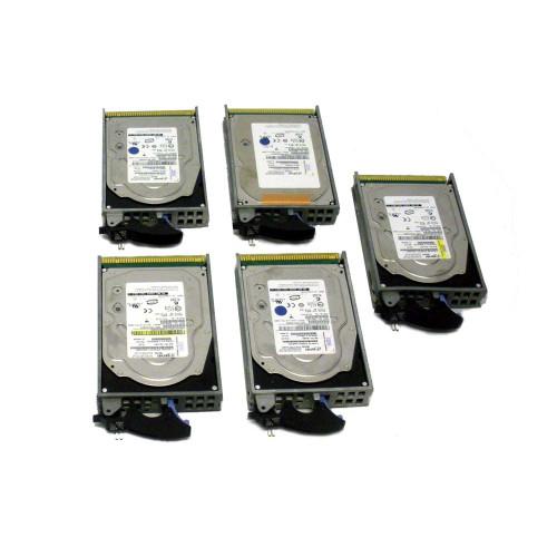 IBM, 4327-9406, 4327, 70GB, 15K, U3, 3.5in, SCSI, Hard Drive, Lot of 5, 26K5176, 26K5537, 39J1469, 39J3696, 39J3699, 42C0216, 42C0256, 43L9028, 53P3240, 53P3360, 97P2930, 97P2991, 97P3031