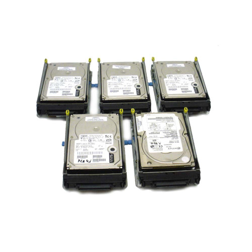 IBM 6818-9406 6818 17.54GB 10K SCSI Hard Drive AS/400 DASD - Lot of 5 - 04N2737, 07N3163, 07N3186, 07N3196, 08K0304, 09L3932, 21P6856, 34L5438, 34L9194, 53P3241