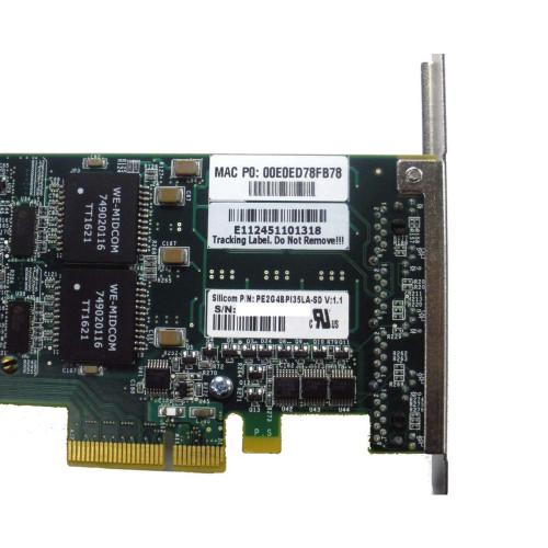 Silicom Quad Port Copper Ethernet PCI Express Bypass Card PE2G4BPI35LA-SD