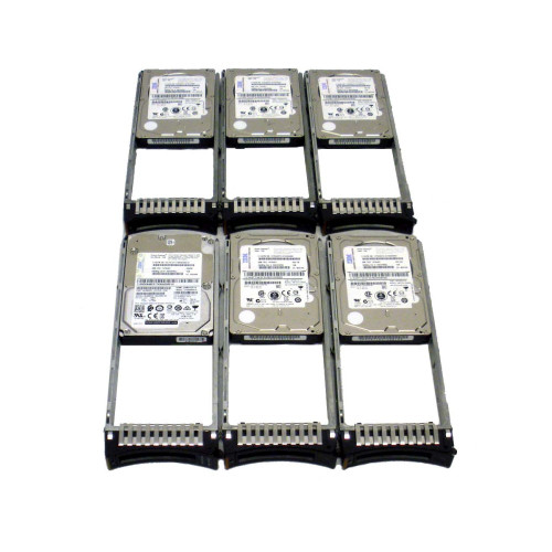 IBM 1948-820X 74Y6497 74Y6482 19B1 283GB 15K 6G SAS SFF-2 Hard Drive IBM via Flagship Tech - Lot of 6