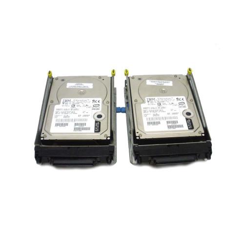IBM 6818-9406 6818 17.54GB 10K SCSI Hard Drive AS/400 DASD Lot of 2 - 04N2737, 07N3163, 07N3186, 07N3196, 08K0304, 09L3932, 21P6856, 34L5438, 34L9194, 53P3241