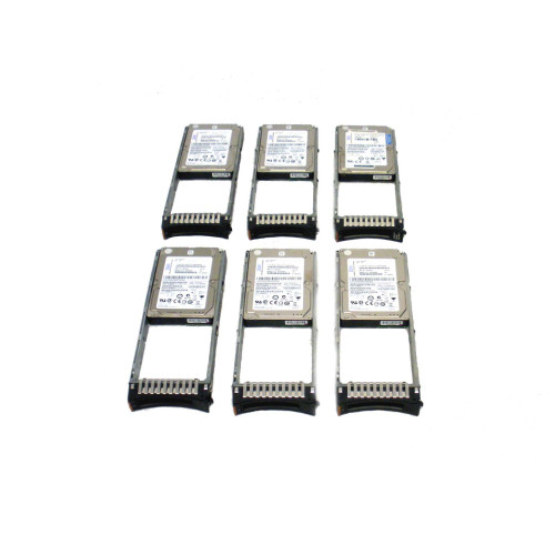IBM 1947-820X 1947 00E6171 74Y6479 19B0 139GB 15K SAS SFF Gen 2 Hard Drive - Lot of 6