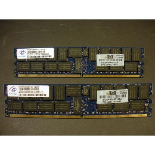 HP 408854-B21 405477-061 8GB (2x4GB) DDR2 PC2-5300 Registered Memory Kit