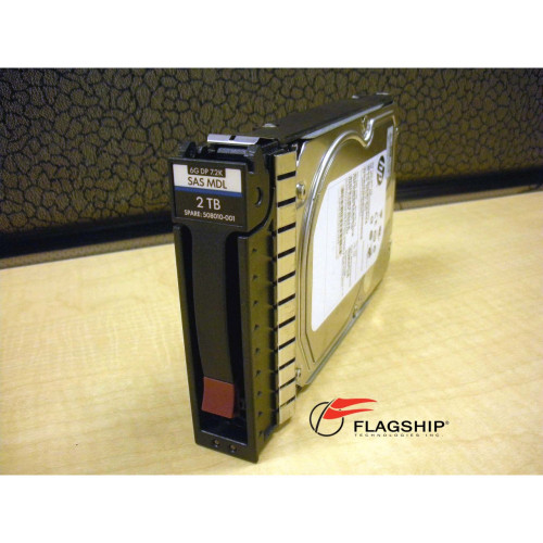 HP 507616-B21 508010-001 2TB 7.2K 6G SAS LFF DP MDL Hard Drive