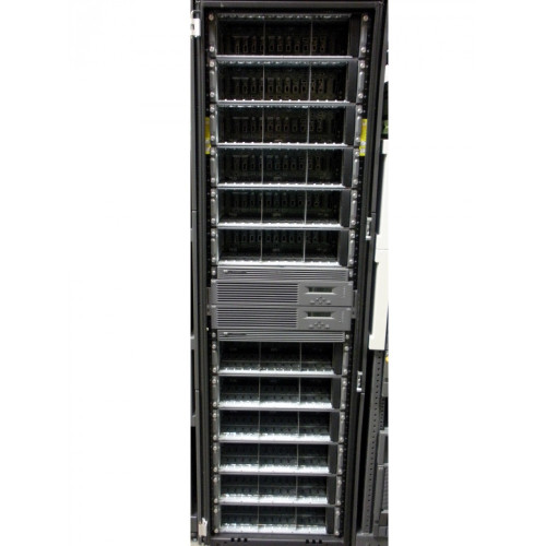 HP AG702A EVA8100 2C12D HSV210-B Storage Array Cabinet with Switches, NO DRIVES