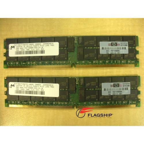 HP 375004-B21 4GB (2x 2GB) PC2-3200 Memory Kit 345114-851