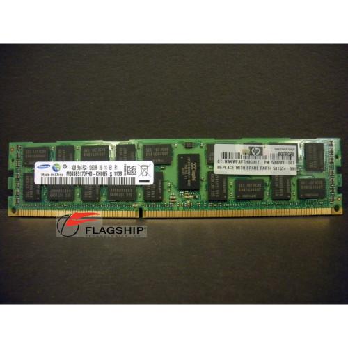 HP 500658-B21 4GB (1x 4GB) PC3-10600 Memory 500203-061 501534-001