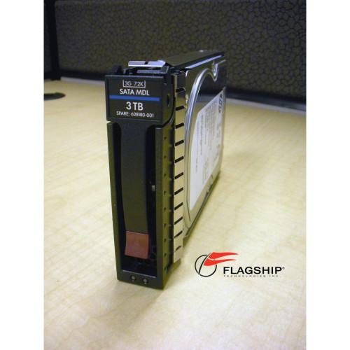 """HP  628059-B21 / 628180-001 3TB 7.2K 3G SATA LFF 3.5"""" MDL Hard Drive"""