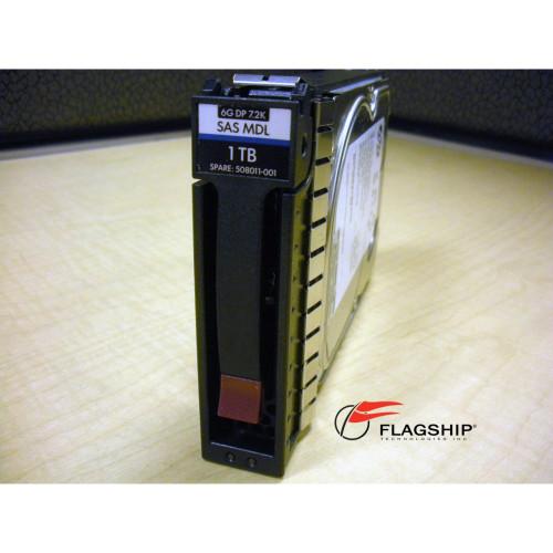"HP 507614-B21 508011-001 1TB 6G SAS 7.2K LFF 3.5""  DP MDL Hard Drive"