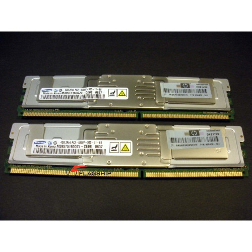 HP 466440-B21 / 466436-061 8GB (2x 4GB) PC2-5300 FBD LP Memory Kit
