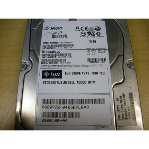 10KRPM Sun 540-5771-01 73GB SCSI With Tray Internal Hard Drive